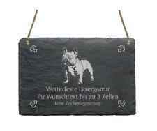 « FRANZÖSISCHE BULLDOGGE » Schiefertafel mit MOTIV + WUNSCHTEXT - Hund