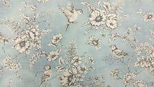iLiv Finch Toile Delft Bird Curtain Upholstery Craft Designer Cotton Fabric