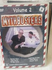 MYTHBUSTERS VOLUME 2 BURIED ALIVE TREE CANNON,COLA MYTHS E R4
