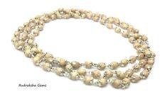 Tulsi Tulasi Holy Basil 108  Beads Japa Mala Rosary IN PURE SILVER CAP Necklace