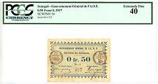 Senegal ... P-1b ... 0.50 Francs ... L.1917 ... *XF* ... PCGS 40
