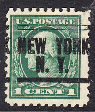 USA 1916 Washington - 1c Green P10 - New York  NY