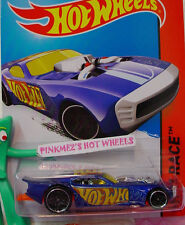 2014 Hot Wheels NITRO DOORSLAMMER #159✰New Blue/Orange✰HW Race ✰Thrill Racers