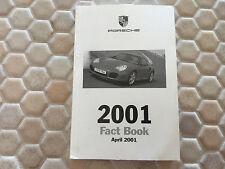 PORSCHE BOXSTER / S 911 996 COUPE CABRIOLET TURBO FACT BOOK BROCHURE 2001 USA Ed