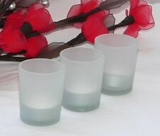72 Frosted Glass table decoration votive tealight candle holder corporate dinner