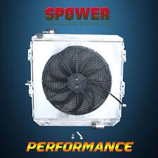 Aluminum Radiator +Fan Shroud For Toyota Hilux LN106 LN111 LN107 AT Diesel 88-97