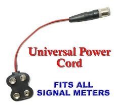 UNIVERSAL RG6 POWER SUPPLY CABLE FOR ALL DIGITAL SATELLITE FINDER METER 6 INCH