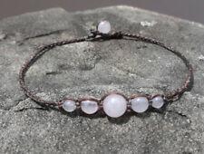 Rose quartz Anklets,stone anklets,Men and Women anklets,handmade