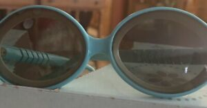 Vintage 1950,s Sun Glasses Patented By RIESCO Made In ITALY Blue And White Frame