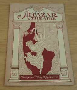 1928 San Francisco's ALCAZAR THEATRE~Comedy Play PROGRAM-MUSIC with HARRY JAMES~