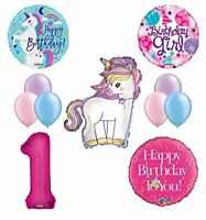 Unicorn 1st Birthday Girl Party Supplies and Balloon Decorations