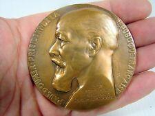 Bronze 72 mm Paul Doumer President de la Republique signée VP Dautel 13/05/1931