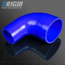 "BLU 2"" To 2.5"" 90 Degree TURBO INTERCOOLER SILICONE Elbow Pipe Hose Reducer 3PLY"