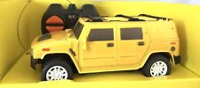 R/C RADIO CONTROL BATTERY OPERATED 4 CHANNEL CAR TOY YELLOW SCALE1:28 TRUE STYLE