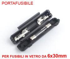 PORTAFUSIBILE IN LINEA VOLANTE PER FUSIBILI VETRO DA 6x30mm - ITALIA