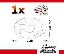 ORIG escape deportivo Fox logotipo blanco pegatinas, sticker decal, autocollant 12,5x12cm