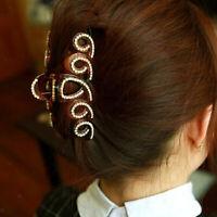 Haarkralle Hairclip mit Strass Haarklammer Haarspange Haarkrebs Haarspangen