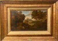 Paul Bril - Landscape with a Carthusian (Saint Bruno?) oil painting 17th century