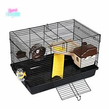 Hamster Cage Large Guinea Pig Haven Habitat Small Animal Cage w/ Exercise Wheel