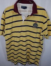 Polo ralph lauren Striped Golf Rugby SzXL Ylw/navy/maroon