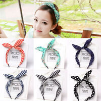 Floral Hairband Fabric Butterfly BowKnot Hair Hoop Rabbit Ear Headband Flower HC
