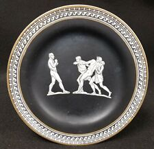 "Antique Pratt Fenton ""OLD GREEK"" Plate of Men Urging Another to Fight"