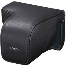 Sony LCSELC7/B Genuine Leather Custom Fit Case for NEX-7 Camera and Lens - Black