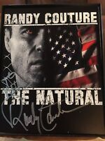 "RANDY ""THE NATURAL' COUTURE SIGNED 8X10 UFC MMA ""TO MIKE"" DUAL COA MMA COA"