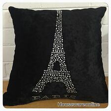 **Clearance ** $8.00 1X Black  Sequins Square Cushion Cover 45x45cms