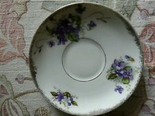 Vintage genuine Yada China replacement saucer Purple flowers