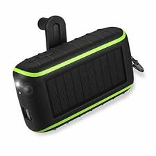 Workingda Solar Charger, 10000mAh Portable Hand Crank Phone Charger 2 USB Ports