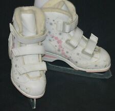 Jackson Softec Tri Grip Toddler Figure Ice Skates Pink White Size 12J Snowflake