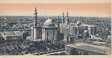 WW1 period postcard Sultan Nassan Mosque Cairo Egypt & Prison building next door
