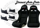 BRIDE VIOS III 3 Low Max Black Pair Bucket Racing Seats W/ LONG Side Mounts JDM