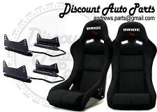 Bride Vios Iii 3 Low Max Black Pair Bucket Racing Seats With Long Side Mounts Jdm