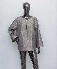 MARIMEKKO Jukka Rintala Grey Linen Blazer Jacket 1 Button Fastening Size 44/16