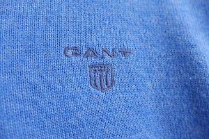 GANT pullover Sweater Cotton V-neck Blue M