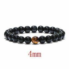Men's Natural Stone Tiger Eyes 4MM Beads Bangle Charms Fashion Bracelets Gifts