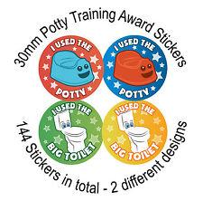 144 pot - 30 mm Childrens Reward stickers, enfants siège de toilette bébé
