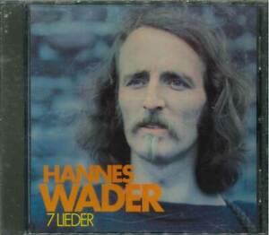 """HANNES WADER """"7 Lieder"""" CD-Album"""