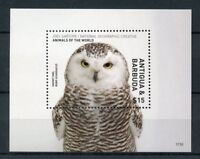 Antigua & Barbuda 2017 MNH Wild Animals of World 1v S/S Owls Birds Stamps