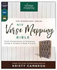Niv Verse Mapping Bible-soft leather-look, navy floral