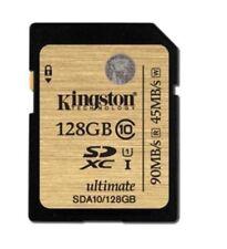 Tarjetas de memoria SDXC para cámaras de vídeo y fotográficas para 128 GB