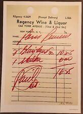 Andy Warhol - Regency Hotel Recipt Autherised Poster Pop Art 40 cm X 29 cm