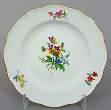 Meissen Teller, mit bunten Blumen bemalt #1