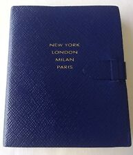 SMYTHSON PANAMA PREMIER NOTEBOOK 'FASHION CENTER' in Blue RRP £78.50 - BNWT