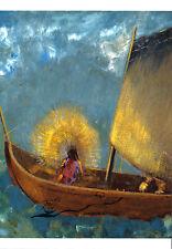Kunstpostkarte -  Odilon Redon:  Die mystische Barke