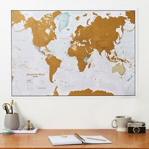 Scratch the World - scratch off where you travel - home decor, gift for him/her