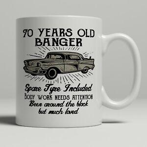 70th birthday mug funny banger cheeky gift idea husband dad father happy 70