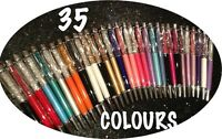 45 Colours-AMAZING QUALITY Ballpoint Pen With SWAROVSKI CRYSTAL ELEMENTS!